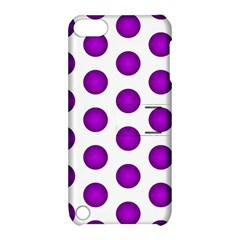 Purple And White Polka Dots Apple iPod Touch 5 Hardshell Case with Stand