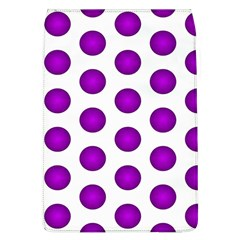 Purple And White Polka Dots Removable Flap Cover (Large)