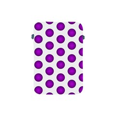 Purple And White Polka Dots Apple iPad Mini Protective Sleeve