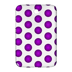 Purple And White Polka Dots Samsung Galaxy Note 8.0 N5100 Hardshell Case