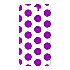 Purple And White Polka Dots Samsung Note 2 N7100 Hardshell Back Case