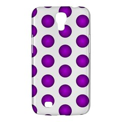 Purple And White Polka Dots Samsung Galaxy Mega 6.3  I9200 Hardshell Case