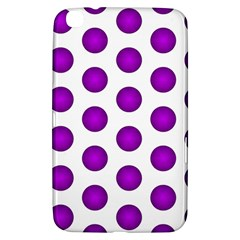 Purple And White Polka Dots Samsung Galaxy Tab 3 (8 ) T3100 Hardshell Case