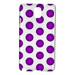 Purple And White Polka Dots Samsung Galaxy Note 3 N9005 Hardshell Case