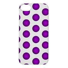 Purple And White Polka Dots Apple iPhone 5S Hardshell Case