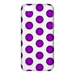 Purple And White Polka Dots Apple iPhone 5C Hardshell Case