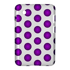Purple And White Polka Dots Samsung Galaxy Tab 2 (7 ) P3100 Hardshell Case