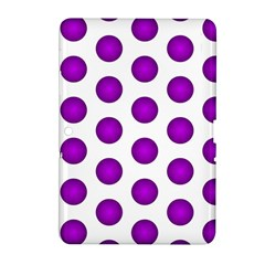 Purple And White Polka Dots Samsung Galaxy Tab 2 (10.1 ) P5100 Hardshell Case