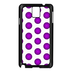 Purple And White Polka Dots Samsung Galaxy Note 3 N9005 Case (Black)