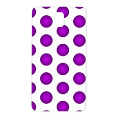 Purple And White Polka Dots Samsung Galaxy Note 3 N9005 Hardshell Back Case