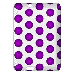 Purple And White Polka Dots Kindle Fire HDX 7  Hardshell Case
