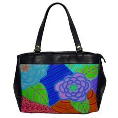 Summer Flowers Leather Like Shoulder Bag