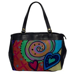 Two Hearts Leather Like Shoulder Bag