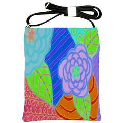 Summer Flowers Shoulder Sling Handbag