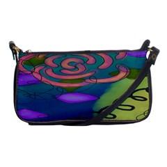Pink Rose Small Shoulder Bag Evening Bag