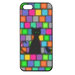 Cat Apple Iphone 5 Seamless Case (black)