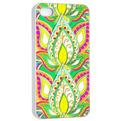 Lotus Apple iPhone 4/4s Seamless Case (White)