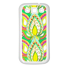 Lotus Samsung Galaxy S3 Back Case (White)