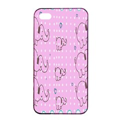 Baby Elephant  Apple iPhone 4/4s Seamless Case (Black)