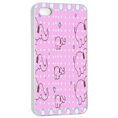 Baby Elephant  Apple iPhone 4/4s Seamless Case (White)