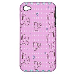 Baby Elephant  Apple iPhone 4/4S Hardshell Case (PC+Silicone)