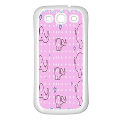 Baby Elephant  Samsung Galaxy S3 Back Case (White)