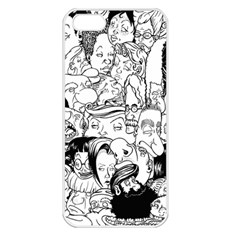 Faces in Places Apple iPhone 5 Seamless Case (White)