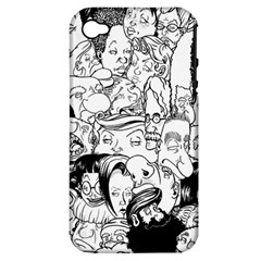 Faces In Places Apple Iphone 4/4s Hardshell Case (pc+silicone)