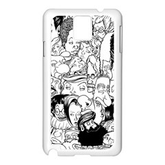 Faces In Places Samsung Galaxy Note 3 N9005 Case (white)