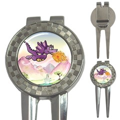 The Wee Purple Dragon Flying Golf Pitchfork & Ball Marker