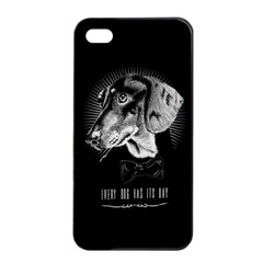 Every Dog Has Its Day Apple Iphone 4/4s Seamless Case (black)