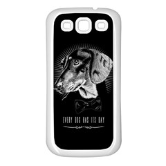 every dog has its day Samsung Galaxy S3 Back Case (White)