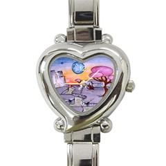 Elsewhere1 Heart Italian Charm Watch
