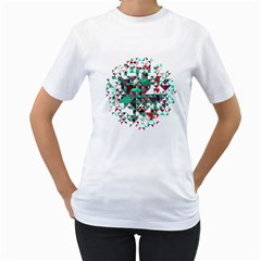 Kaleidoscope On Black Women s T Shirt (white)