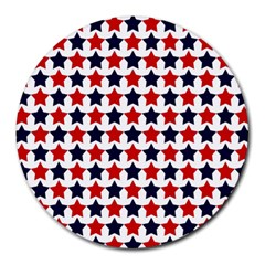 Patriot Stars 8  Mouse Pad (round)