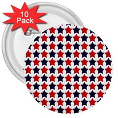 Patriot Stars 3  Button (10 pack)