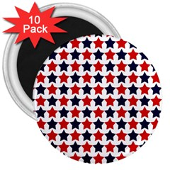 Patriot Stars 3  Button Magnet (10 pack)