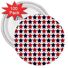 Patriot Stars 3  Button (100 pack)