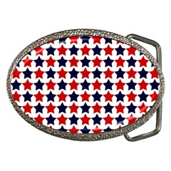 Patriot Stars Belt Buckle (Oval)