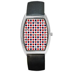 Patriot Stars Tonneau Leather Watch