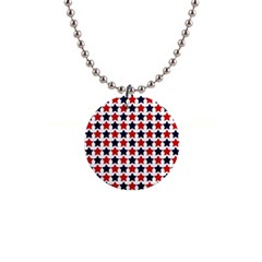 Patriot Stars Button Necklace