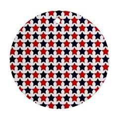 Patriot Stars Round Ornament (Two Sides)