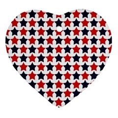 Patriot Stars Heart Ornament (Two Sides)