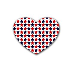Patriot Stars Drink Coasters 4 Pack (Heart)