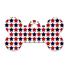 Patriot Stars Dog Tag Bone (Two Sided)