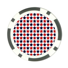 Patriot Stars Poker Chip (10 Pack)
