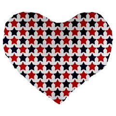 Patriot Stars 19  Premium Heart Shape Cushion
