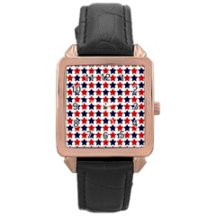 Patriot Stars Rose Gold Leather Watch