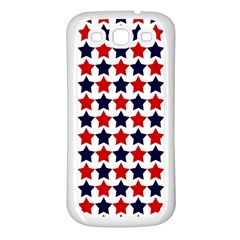 Patriot Stars Samsung Galaxy S3 Back Case (White)