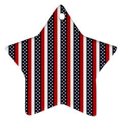 Patriot Stripes Star Ornament